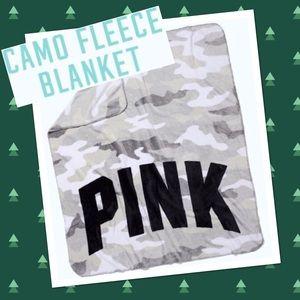 PINK Soft Fleece Blanket in Camo